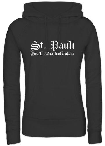 Shirtstreet, ST.Pauli, Kult Damen/Lady Kapuzen Sweatshirt - Pullover, Größe: XXL,Schwarz