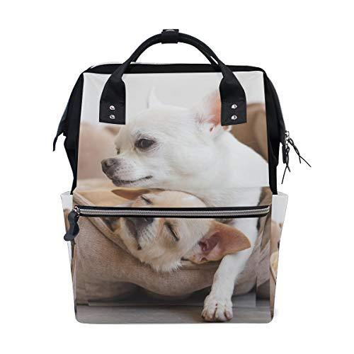Abbraccio Cute Dog Friends Animal Borse per pannolini a grande capacità Zaino per mamme Funzioni multiple Borsa per infermieri Tote Borsa per bambini Cura del bambino Viaggi Donne al giorno