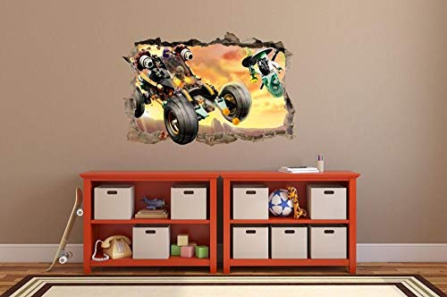 CSCH Wall Sticker Wall Stickers Hole in The Wall 3D NINJAGO Sticker to The Room