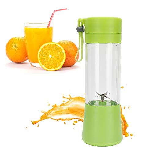 Exprimidor eléctrico portátil GAESHOW de 380 ml, licuadora automática para hacer zumos...
