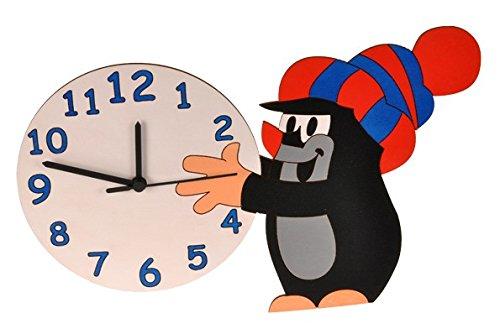 alles-meine.de GmbH Wanduhr Uhr - der kleine Maulwurf - Pauli - Kinderzimmer