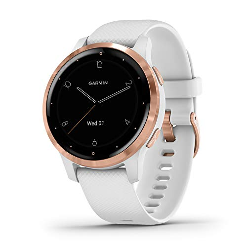 Garmin Vivoactive 4S Smartwatch GPS, Music, Garmin Pay, Wi-Fi, Multicolore (White / Rose Gold)