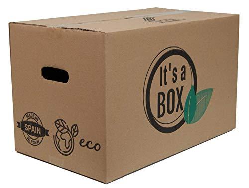 Chely Intermarket Pack 10 Cajas Cartón para Mudanza 40x30x30 cm, packaging y Almacenaje resistentes - Canal Simple Reforzado Calidad Superior - Fabricadas en España - ECO-FRIENDLY.(535-40x30-3,15)