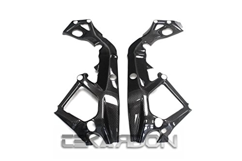 Tekarbon Replacement for Racing Frame Covers, Carbon Fiber, BMW S1000RR / HP4 2015-2017