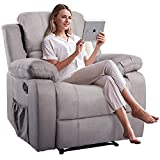 Best Big Man Recliners - Massage Recliner Chair with Heating Function, Adjustable Reclining Review