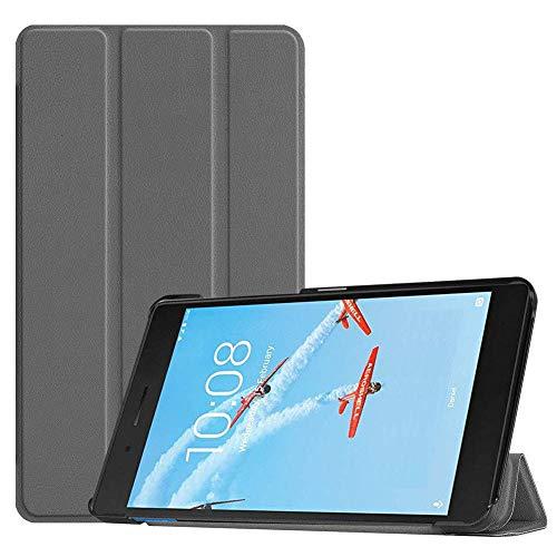 Case2go - Case for Lenovo Tab E7 - Slim Tri-Fold Book Case - Lightweight Smart Cover - Grey