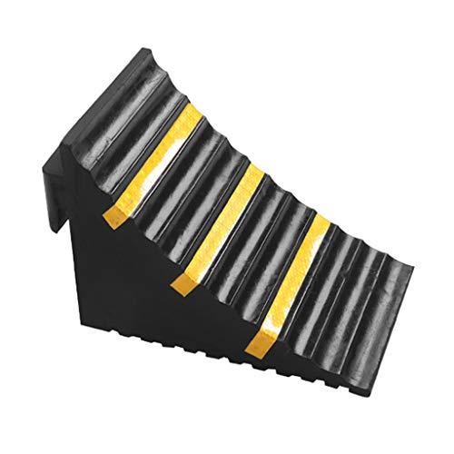 Buffer-Feng SZQ-Rampas Dispositivo de retención de la Rueda del triángulo, estación de Viaje localizador de carros al Aire Libre, rampas para aceras Bloqueador de vagones Almohadilla de rampas