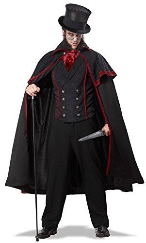 California Costumes 01749 - Disfraz De Jack El Destripador Para Los Hombres Carnaval De Halloween Talla Plus 4XL - 5XL EU