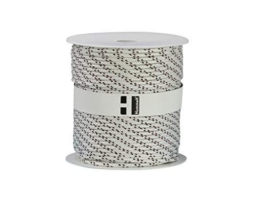 Hummelt Rope Schot Seil Polyesterseil 4mm 100m weiß/braun auf Rolle