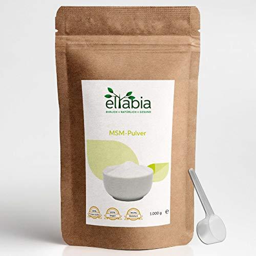 eltabia MSM Pulver 1kg 1000g Maxi Pack 99,9% reiner Organischer Schwefel Methylsulfonylmethan Lebensmittelqualität