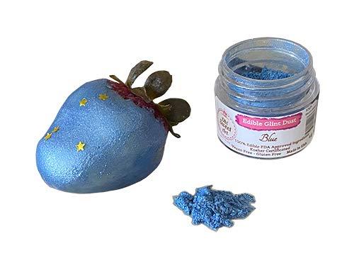 Edible Glint Dust Blue Luster jar gram Oklahoma City Mall Gra Food 4 Kansas City Mall