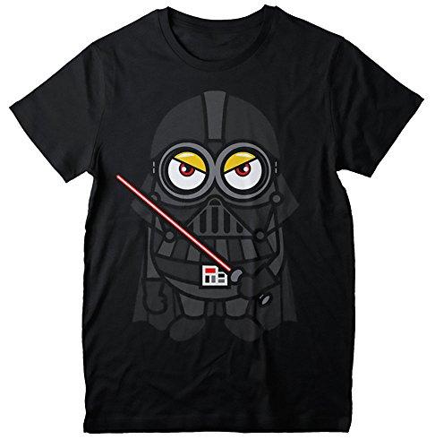 Camisetas La Colmena Minions Vader Camiseta, Negro, XL