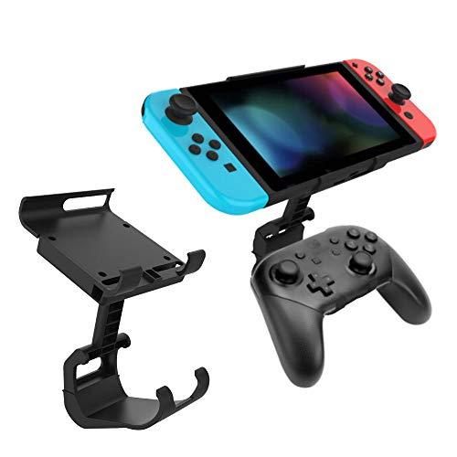 Goorrg Controlador de juego Soporte de clip de montaje Compatible con el controlador Nintendo Switch Pro Soporte de gamepad para...