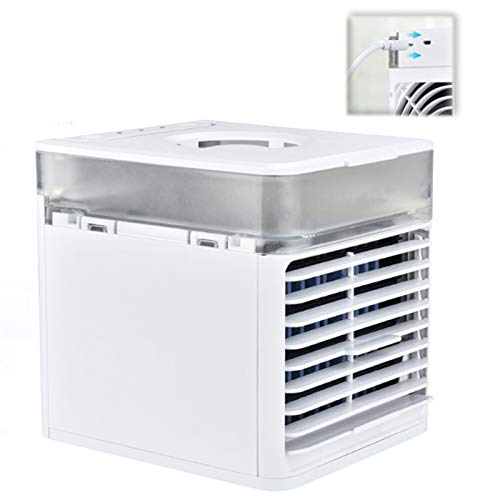 Aire Acondicionado Personal, refrigerador de Aire USB silencioso, 3 Bloques, 2 Tipos de Viento, Aire Acondicionado Plegable para habitación pequeña/Oficina/Dormitorio/Dormitorio