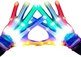 Charlemain LED Handschuhe Kinder (5-10Jahre), leuchtende Handschuhe,Skelett Hand Effekt,5 Farben,...