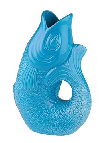 Gift Company - Monsieur Carafon -Vase/Bluemnvase - Steingut - S - Lagoon/Blau - 17 x 10 x 24,3 cm - 1,2 Liter