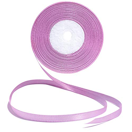 Lavender Ribbon 1/4 Inches 36 Yards Satin Roll Perfect for Scrapbooking, Art, Wedding, Wreath, Baby Shower, Packing Birthday, Wrapping Christmas Gifts or Other Projects Purple Color