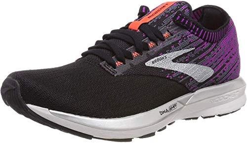 Brooks Damen Ricochet Laufschuhe, Schwarz (Black/Purple/Coral 080), 40.5 EU
