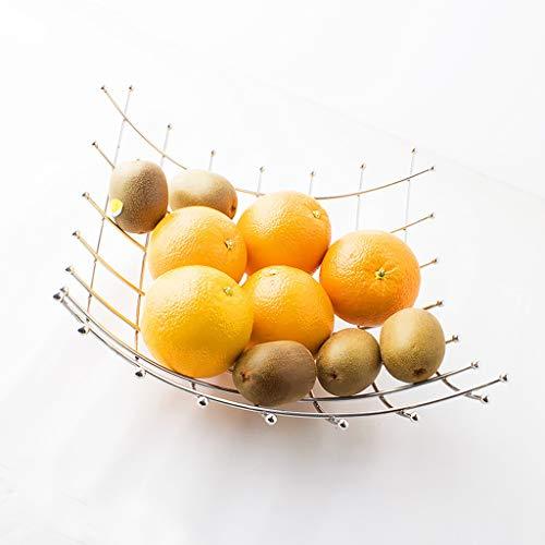 ZGP -plat de fruits Assiette de fruits en acier inoxydable Assiette de collation européenne créative Salon corbeille de fruits Assiette à dessert moderne Assiette de fruits séchés Assiette de fruits m