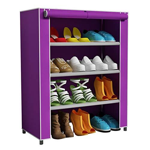 Zapatero Duradero El Estante de Zapatos del Armario de 3 Capas Puede acomodar 12 Pares de gabinetes de Torre de Zapatos metálicos no Tejidos. Diseño Estable (Color : A1, Size : 61x30x63cm)