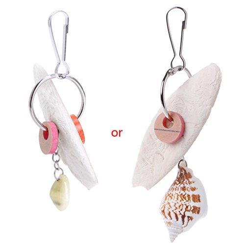 CADANIA vogels kauwen speelgoed bijten papegaaien training opknoping kooi met Cuttlefish Bone Shell