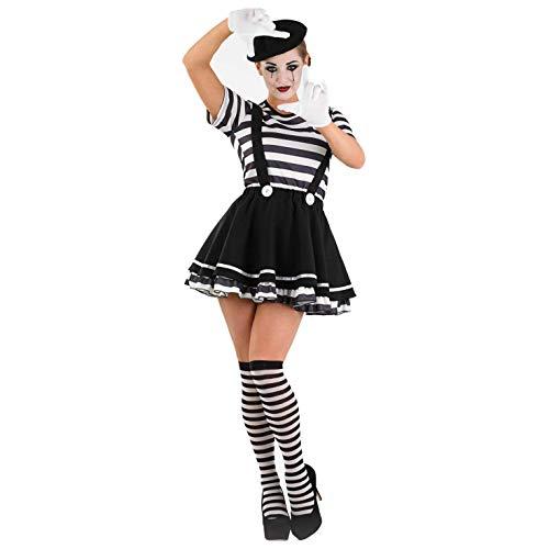 Fun Shack Costume per Adulti da Donna Artista Mimo Vestito Attore Muto Bianco & Nero - Taglia M