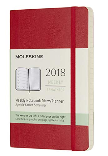 Moleskine Classic 12 Month 2018 Weekly Planner, Soft Cover, Pocket...