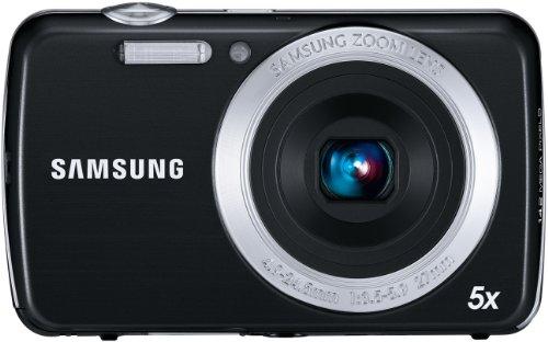 Samsung PL20 Digitalkamera (14 Megapixel, 5-Fach Opt. Zoom, 6,85 cm (2.7 Zoll) Display, bildstabilisiert) schwarz