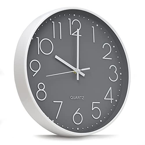 Reloj pared de cocina, reloj cocina pared silencioso decorativo de 30 cm, reloj pared moderno
