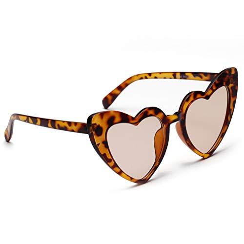 TENDYCOCO Occhiali da Sole a Forma di Cuore Occhiali retrò in Plastica Protezione UV Occhiali a Specchio Occhiali da Sole Beach Party Occhiali per Donna Signora Signora Ragazza