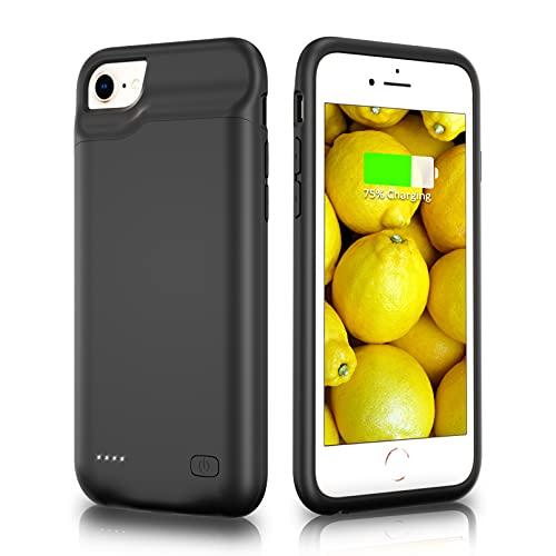 HUOBAO Funda de batería para iPhone 6 / 6s / 7/8 / SE 2020, [5500mAh] Funda de Carga para iPhone, Funda Protectora de Carga portátil, Batería Recargable extendida para(4.7 Pulgadas)