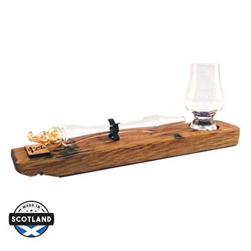 Whisky-Verkostungsset mit Wassertropfer, Topfdeckel & Mini-Whiskyglas - Set enthält Glas-Whisky-Wasserpipette für Scotch, Whisky, Bourbon und Roggen - Whisky-Geschenk von Angels' Share Glas