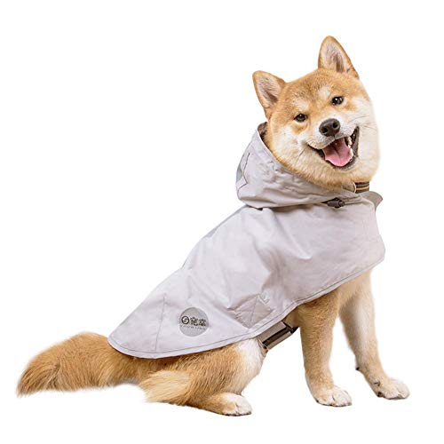 Nourse CHOWSING Dog Raincoats for Small Dogs with Reflective Strip Hoodie,Rain Poncho Jacket