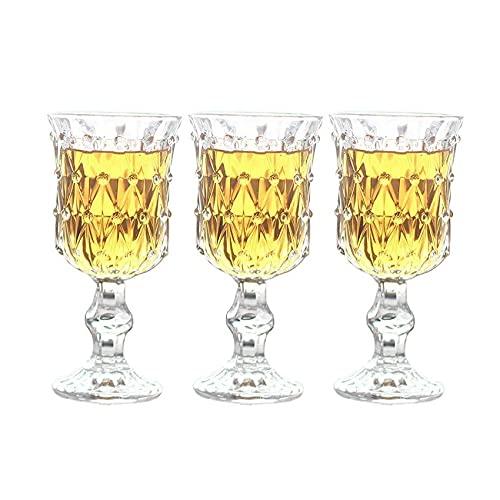 ZHOUYANG Cristal, Copa, Patrón De Diamante, Copa De Vino, Copa De Vino, Copa De Champagne, Conjunto De 3