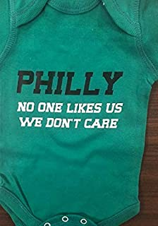 Funny Eagles baby shirt no one likes us we don't care Eagles infant bodysuit