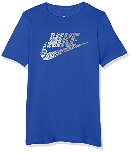 Nike Jungen Half Futura T-Shirt, Blau (Game Royal/White/480), Gr. S