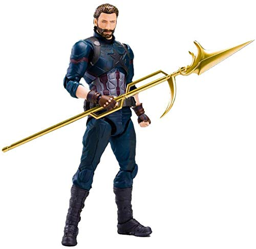 CHUNQING The Avengers: Infinity War Capitan America Mobile Character Model Gift Action Figure-15cm