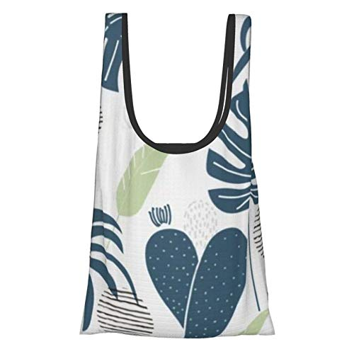 Bolsas de compras reutilizables hojas jardín ecológico plegable bolsa de almacenamiento