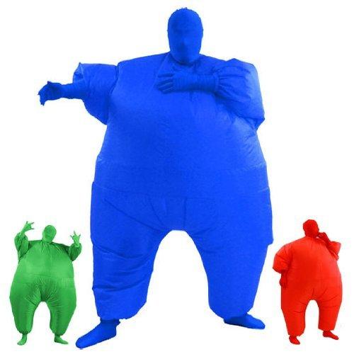 AirSuits Aufblasbarer Dicker Döbelanzug, zweite Haut, Kostüm, Party-Kostüm, Blau