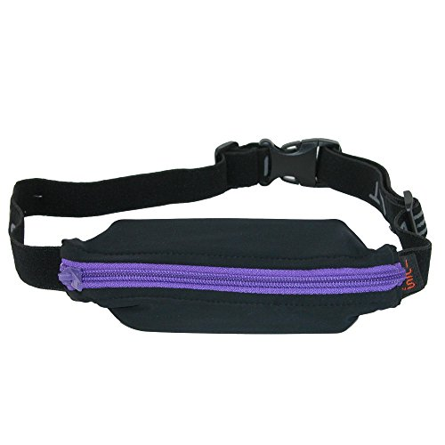 SPIbelt Sports / Running Belt: Original - No-Bounce Running Belt for Runners, Athletes and Adventurers - Fits iPhone 6 and Other Large Phones, Purple Zipper
