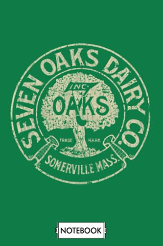 Seven Oaks Dairy Co 1918 Notebook: Lined College Ruled Paper, Planner, Diary, 6x9 120 Pages, Journal, Matte Finish Cover