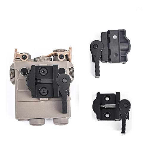 WADSN Tactical Full Metal & Plastic DBAL-A2 Light Mount Adapter Accessories for 20mm Rail (Plastic)