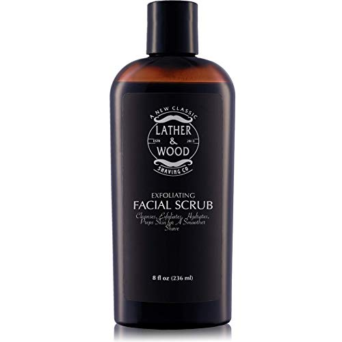 Best Face Wash for Men - Lather & Wood's Face Scrub - Luxurious Exfoliating Mens...