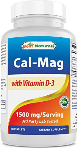 Best Naturals Calcium Magnesium with Vitamin D3 1500mg Serving 180 Tablets