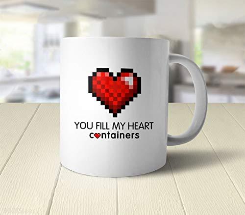 N\A Regalo del día de San Valentín del Friki para él | Taza Geek, Regalo de Videojuegos, Taza de café Gamer Geek, Taza con Forma de corazón, Regalo de Juegos para Chicos, Taza de café