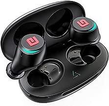 Bluetooth 5.0 True Wireless Earbuds, Sports In-Ear Truly Wireless Bluetooth Headphones Deep Bass IPX6 Sweatproof Stereo Call w/ Mic Instant Pair Low Latency Wireless Mini Headset Earphone 28H Playtime