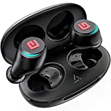 Bluetooth 5.0 True Wireless Earbuds, Sports In-Ear Truly Wireless Bluetooth Headphones Deep Bass IPX6 Sweatproof Stereo Call w/ Mic Instant Pair Low Latency Wireless Mini Headset Earphone 28H Playtime