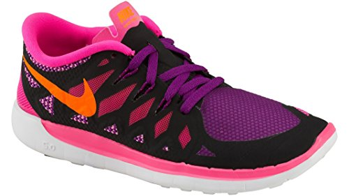 Nike - Free 5.0 Scarpe da atletica, Ragazze, Rosa(black/total orange/pink pow/berry), 38