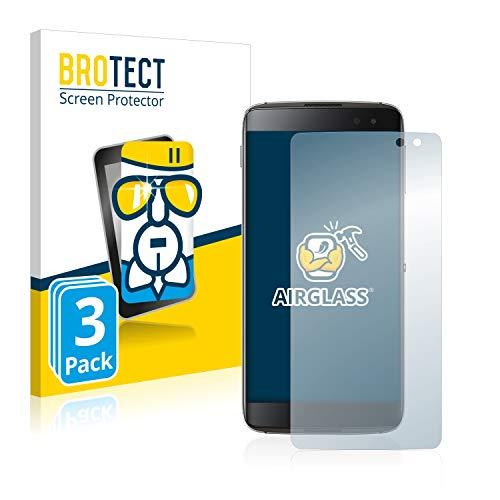 BROTECT Panzerglas Schutzfolie kompatibel mit BlackBerry DTEK60 (3 Stück) - 9H Extrem Kratzfest, Anti-Fingerprint, Ultra-Transparent