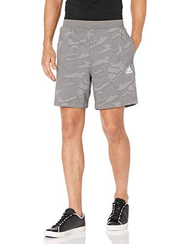 adidas mens Essentials All Over Print Shorts Solid Grey/White 4X-Large